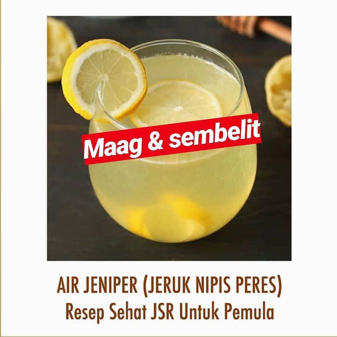 Reposted from @astinaatikah -  Air Jeniper (Jeruk Nipis Peres)  Resep Sehat JSR ...