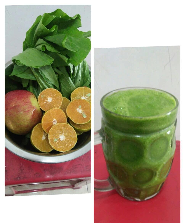 Jus sayur mix buah  Jeruk peras Apel fuji Caisin . . Bisa di tambahkan nanas mad...