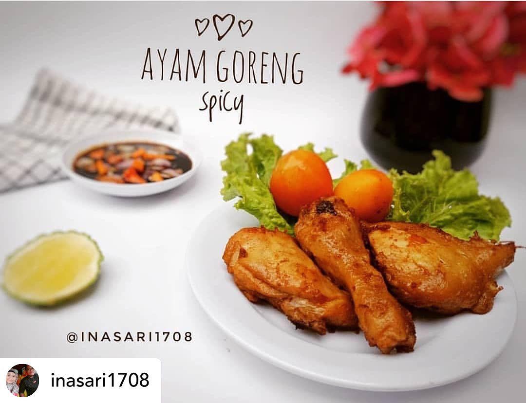 Posted @withregram • @inasari1708 Ayam goreng#  AYAM GORENG SPICY  Sc : blog @ju...