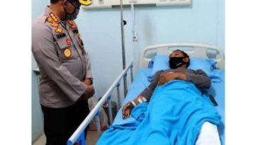 Anggota Reskrim Polsek Wonoayu Alami Patah Tulang Saat Kejar Pejambret
