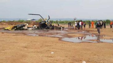 Helikopter Militer Jatuh Lalu Terbakar di Kawasan Industri Kendal