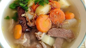 "Posted @withregram • @fenn.chen ""Sop Sengkel""  Bahan: - 500 gr daging sengkel sa..."