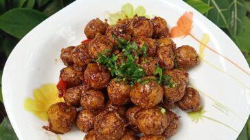 Posted @withregram • @kitcheninstaa Baso Tempe Lada Hitam . Bahan : - bakso temp...