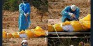 Viral Foto Pemuda Makamkan Sendiri Ayah yang Meninggal Diduga karena Corona