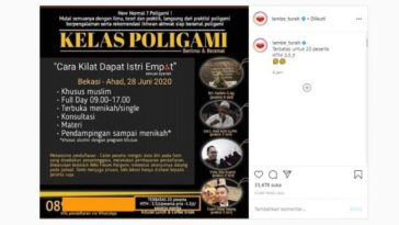 Viral Poster Kelas Poligami saat New Normal (Instagram)