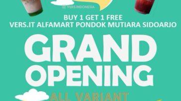 GRAND OPENING @vers.indonesia PROMO BUY 1 GET 1 FREE Dapetin anek minuman seger bervariasi mula...