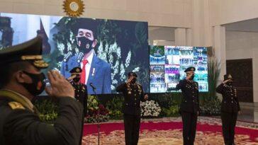 Jokowi Presiden Pimpin Upacara Peringatan Hari Bhayangkara ke-74