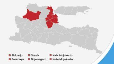Masih Ada 6 Daerah Zona Merah Covid-19 di Jatim