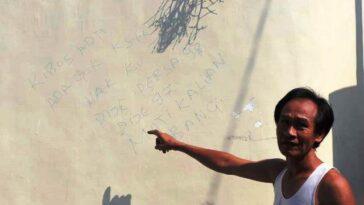 Pelaku Tulis Pesan Ancaman di Tembok Rumah Via