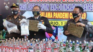 Polres Musnahkan Lima Jenis Narkotika Hasil Operasi Selama Pandemi