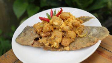 Posted @withregram • @norita_foods Gurame telur asin Bahan utama A: 1 ekor ikan ...