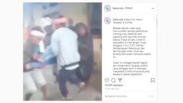 Viral perempuan menangis diangkat paksa sejumlah pria, diduga praktik kawin tangkap (Instagram)
